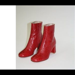 Maryam Nassir Zadeh Agnes boot red croc, size38